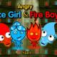 Angry Icegirl and Fireboy